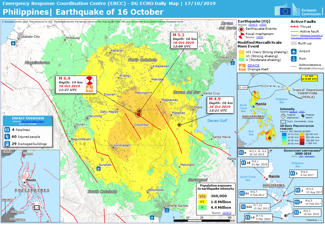 ECHO Daily Map of 17 October 2019